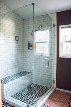 glass shower enclosure, concrete floor tiles from Granada Tile | Before & After: From Damp & Outdated to a Modernist Dream Bathroom