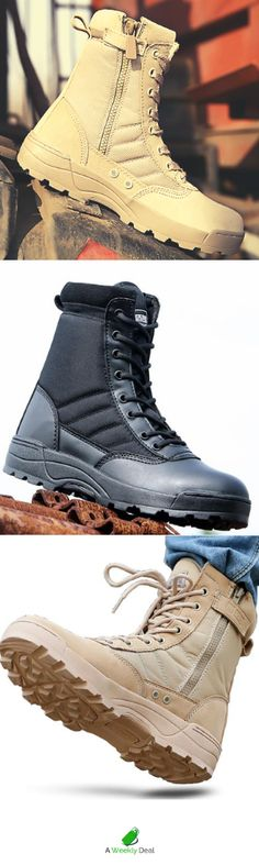 Military Tactical Boots – [pin_pinter_full_name] Military Tactical Boots Tough and dependable. On Duty or off. The Military Tactical Boot is a well known legend among soldiers,… Sock Shoes, Shoe Boots, Timberland Boots Outfit, Timberlands, Military Tactical Boots, Baskets, Yellow Boots, Mens Fashion Wear, Tactical Clothing