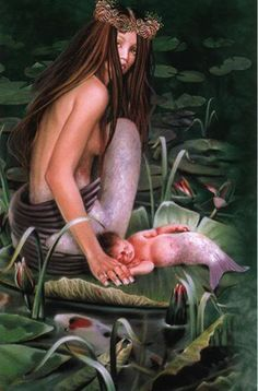 This is my favourite mermaid picture of all time... would love to have mom/baby tattoo incorporated somehow