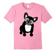 Black and White French Bulldog T-Shirt White French Bulldogs, Amazon Merch, Branded T Shirts, Fashion Brands, Black And White, Mens Tops, Stuff To Buy, Black White, Black N White