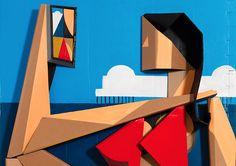 Verbazend Dimensional Schilderijen van Adam Neate | Inspiration Grid | ontwerp Inspiratie