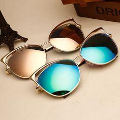 2017 new luxury cat eye óculos de sol espelho do vintage sexy moda retro  vintage marca designer óculos de sol para as mulheres. oculos óculos de sol. 8a90d39af1