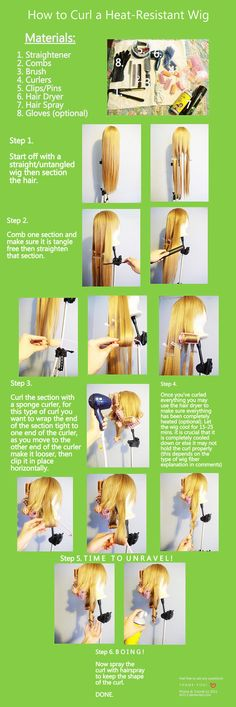How to Curl a H.R Wig