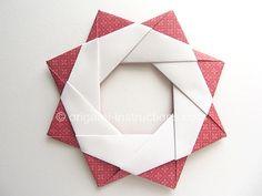 Origami Modular Star Wreath