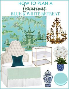 How to Plan a Luxurious Blue and White Retreat. Try these Pro Tips and Ideas to help you plan the ultimate bedroom makeover! DIY Master Bedroom Decor Ideas for a beautiful and dreamy bedroom. via Jennifer Carroll @ Celebrating Everyday Life Diy Master Bedroom Decor, Room Decor, Decor, Bedroom Decor Inspiration, Bedroom Decor, Blue Decor, Blue And White, Home Bedroom, Home Decor