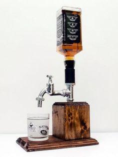 Handmade Wooden Liquor Dispenser, Whiskey Dispenser, Alcohol Dispenser, alcohol gift, liquor gift, whiskey gift - Free shipping worldwide
