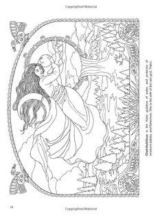 Göttinnen Malbuch 4929
