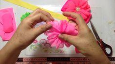 Flor de tela  de shifon  VIDEO No. 308