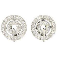 Bulgari Cerchi Diamond Gold Earrings