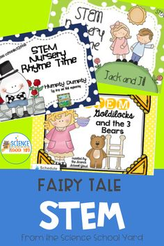 K-2 Students will love these hands on adventures in fairy tale STEM ! In separate STEM challenges along with writing, art, and math connections...these packs are sure to please! Science Lessons, Science Activities, 5th Grade Science, Teaching Style, Writing Art, Stem Challenges, Kids Playing, Separate, Fairy Tales