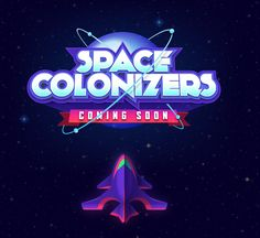 Logo, Spaceships, Planets, Characters and UI designs For Apptouch Games& Space Colonizers for iPad. Bg Design, Game Logo Design, Graphic Design, Design Squad, Lagann Gurren, Video Game Logos, Space Games, Game Title, 2 Logo