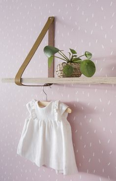 Little Dutch Wallpaper Sprinkles Pink - Cheer up a bland wall in your baby's nursery with our new range of wallpaper! It creates a beautifull starting point for decorating and styling your mini's room. #baby #nursery #wallpaper #pink #kidsroom #babyroom #nurseryinspiration