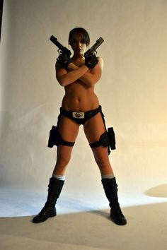 Tomb Raider XXX Behind the scenes photos...smh #cosplay