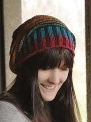 Phoncible Hat Knit Pattern -- A fun and easy hat that uses two different colorways to create something that looks much harder to knit than it is!
