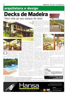 8° Publicação Jornal bom dia – Matéria - Decks de Madeira  21-10-11