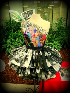 Dress made from magazines