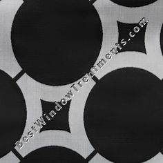 """Black/Silver reverse gray color combination for Element Circle Modern/Contemporary fabric for by the bolt, ready-made draperies in standard size length and extra long 108"""" or 120 inch curtains, scarf swag window top treatments"""