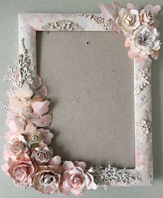 "Minas kreativa: ""Frozen flowers"" - mixed media photo frame"