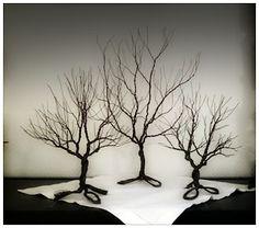 Krokpärla Luffarslöjd: Träd tillverkade av järntråd 1mm
