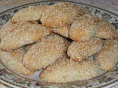 Authentic Greek Recipes: Greek Sesame Cookies