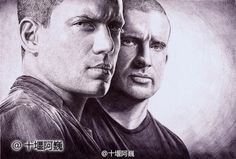 'Prison Break.' Drawn by a young Chinese painter with a ballpoint pen. http://www.visiontimes.com/2015/04/25/when-celebrities-meet-ballpoint-pen-art.html