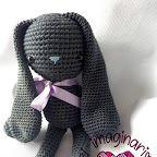 Imagen Crochet Rabbit Free Pattern, Crochet Amigurumi Free Patterns, Crochet Bunny, Crochet Dolls, Crochet Hats, Color Menta, Small Elephant, Diy Tutorial, Diy And Crafts
