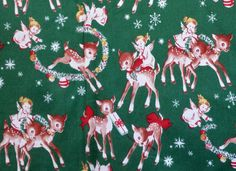 Sweet Retro Angels & Reindeer Christmas by BarefootCrafterTX
