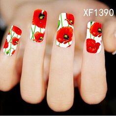 Sheet New Nail Art Flower Stickers Decals by HighClassNailsss