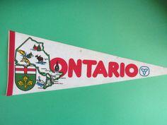 Vintage 1980s Ontario Souvenir Pennant by euphoriaresale on Etsy, $12.00