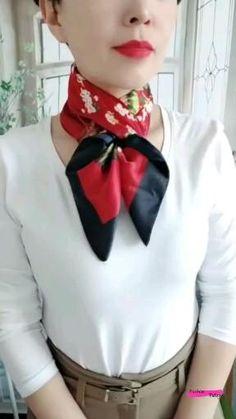Ways To Tie Scarves, Ways To Wear A Scarf, How To Wear Scarves, Scarf Knots, Diy Scarf, Scarf Ideas, Scarf Rings, Scarf Wearing Styles, Scarf Styles