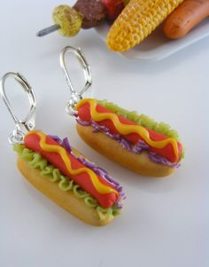Hotdog Earrings