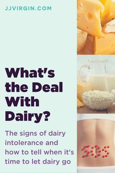 Despite what milk ads might say, going dairy-free is actually good for your bones and skin. Find out why in this article. Find out more about symtpoms of dairy and lactose intolerance, and issues with consuming dairy. Signs Of Dairy Intolerance, Dairy Sensitivity Symptoms, Lactose Intolerance, Symptoms Of Dairy Allergy, No Dairy Recipes, Healthy Recipes, Healthy Meals, Healthy Food, Healthy Protein Shakes