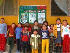 Everybody wears glasses! Children in San José Obrero school, near Lima