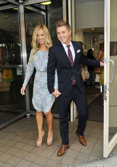 Emily Maynard and Jeff Holm. That suit/tie/shoe combo is IT.