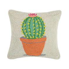 Potted Cactus Hook Pillow b Peking Handicraft Handicraft, Cactus, Succulents, Throw Pillows, Craft, Toss Pillows, Cushions, Arts And Crafts, Succulent Plants