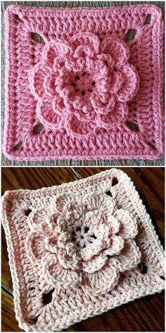 Transcendent Crochet a Solid Granny Square Ideas. Inconceivable Crochet a Solid Granny Square Ideas. Motifs Granny Square, Granny Square Pattern Free, Sunburst Granny Square, Flower Granny Square, Free Pattern, Crochet Square Patterns, Crochet Blanket Patterns, Crochet Motif, Knitting Patterns