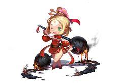 拿铁锤的女汉子 - 菲寒0+0_Q版,三国,可爱,涂鸦,萝莉,原画,日韩,_涂鸦王国