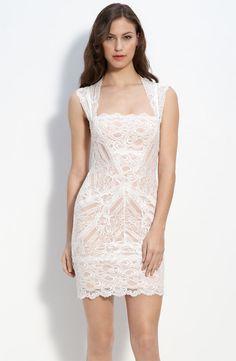 white lace short dresses