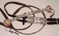 Hand Beaded Horse Bridle or Headstall Custom Order you pick the Colors and Designs. $350.00, via Etsy.