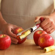 Apple Corer  Quickly and easily removes unwanted cores! Perfect gadget and gift for the holidays when apple pies are a must. Also great for ...