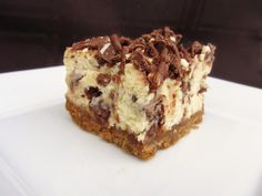 toblerone cheesecake bars I have to remember this when my birthday