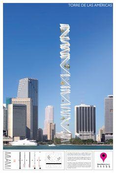 DownTown 2013 : Landmark Miami Design Competition_3st Place / Mauricio Gonzalez, Alfredo Andia