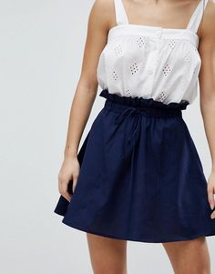 Browse online for the newest ASOS PETITE cotton mini skater skirt with pockets styles. Shop easier with ASOS' multiple payments and return options (Ts&Cs apply). Skater Skirt Outfit, Mini Skater Skirt, Skirt Outfits, Asos Petite, Skirts With Pockets, Fashion Online, Kids Fashion, Charlotte, How To Wear