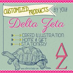 A3Studio personalized Delta Zeta products! http://www.etsy.com/shop/AThreeStudio