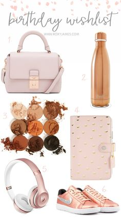 Birthday Wishlist  Everything on my wishlist this year and yes, I'm so in love with this rose gold color scheme.  #birthday #wishlist #birthdaywishlist #rosegold