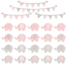 Premium Elephant Clipart Vectors & Digital Papers by AmandaIlkov