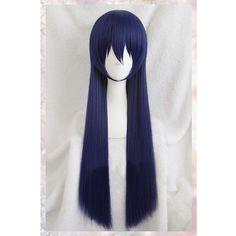 Chất lượng cao dài Straight chất lượng Umi Sonoda hỗn hợp màu xanh tóc giả tình yêu live! LoveLive! Tổng hợp Anime tóc Cosplay trang phục Wig COS tóc giả