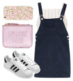 """Untitled #681"" by lovedreamfashion ❤ liked on Polyvore featuring New Look, Topshop, Clutch, adidas, phonecase and unicorn"