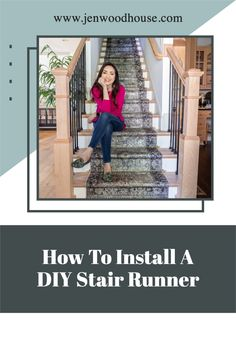 Tutorial video on how to install a stair runner Diy Stair, Ana White, Shadow Box, Diy Ideas, Stairs, Awesome, Top, Inspiration, Decor