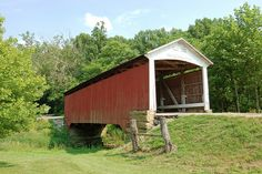 Indiana, Parke County, Billie Creek, Covered Bridge  by EC Leatherberry,